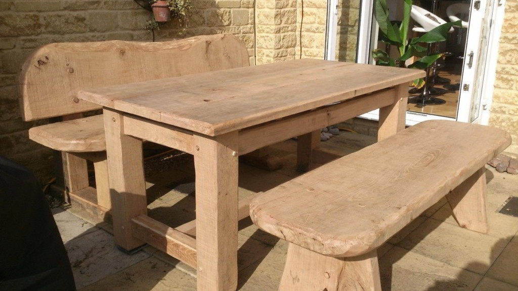 Rustic Oak Outdoor Furniture  Rustic Carpentry