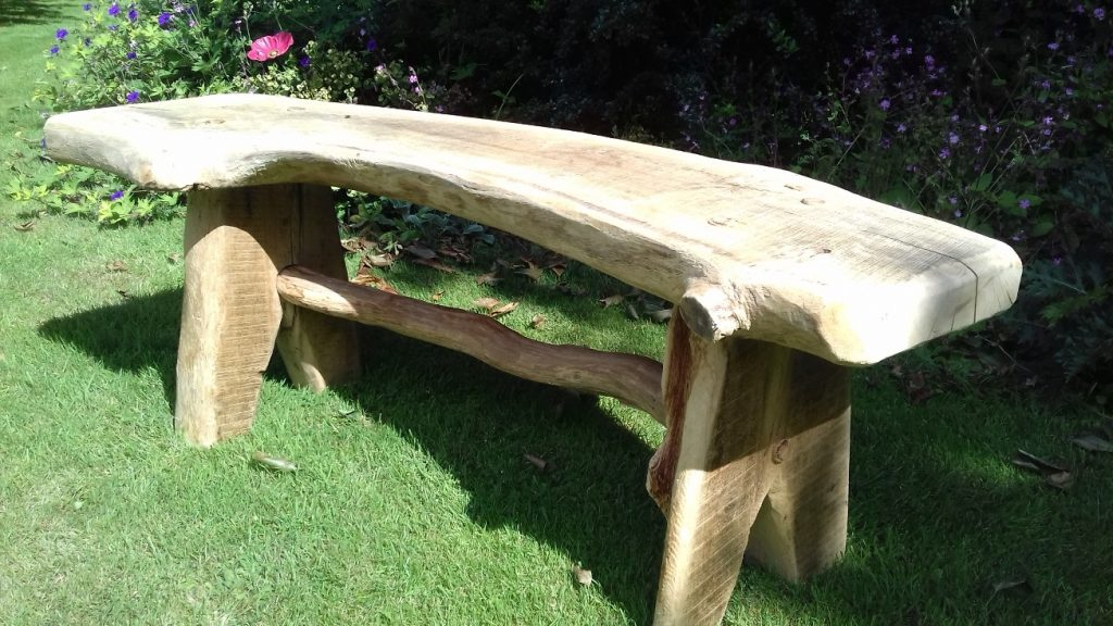 Rustic Garden Bench. View Larger