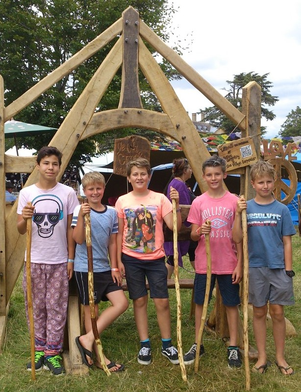 green woodworking at glastonbury