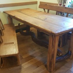 rustic oak kitchen table
