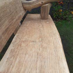 Rustic Furniture Oak Bench 1