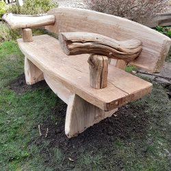 Rustic Furniture Oak Bench 2