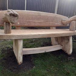 Rustic Furniture Oak Bench 4